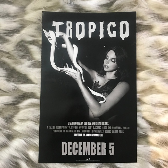 Lana Del Rey Wall Art 1pc Tropicoborn To Die Movie Poster Poshmark